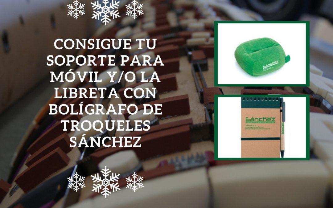 Consigue el soporte para móvil y la libreta con bolígrafo de Troqueles Sánchez